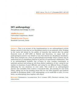 DIY Anthropology: Disciplinary knowledge in crisis [paper]
